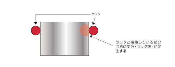 メッキ処理用ラック位置の図面指示による製品歩留まり改善コストダウン Before