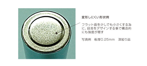 バレルメッキ処理を行うプレス加工品の薄板化による軽量化設計 After