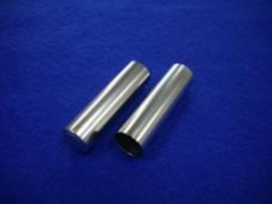 家庭用二次電池向け単三サイズ水素電池ケース部品の半光沢ニッケルメッキ加工事例