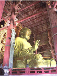 奈良・東大寺の大仏の金メッキ(鍍金)加工