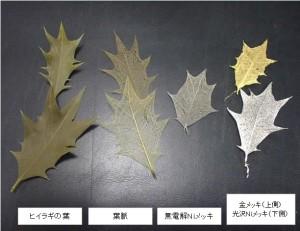 木の葉へのメッキ
