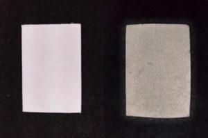 紙へのメッキ